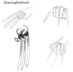 how to draw wolverine claws httpwwwdrawingforallnethow