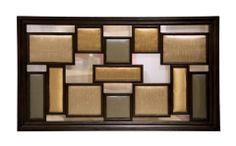 Clifton Contemporary Upholstered Wall Panel in Espresso & Multi