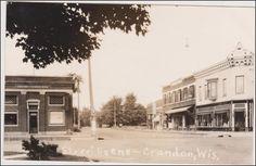 RP: Street View , National Bank, Crandon, Wisconsin, 1920s