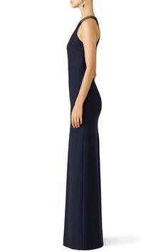 Sleek Navy Cut Out Gown by Elizabeth and James