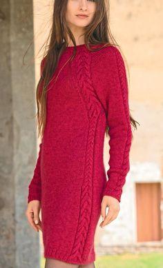 Women's Hand Knitted Dress 6E