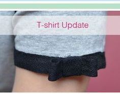 Tutorial: Add contrast trim and a bow to a t-shirt sleeve · Sewing | CraftGossip.com