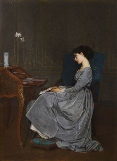 23silence:    Auguste Toulmouche (1829 - 1890) - The Letter, 1867.