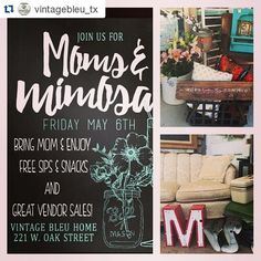 come join us in some late night shopping for mom or just bring your mom and sip on mimosas! will have a mimosa bar giveaways guest vendors and more! #shopdenton #shopvintagebleuhome #vintagebleuhome #dentonslacker #dentonmakes #dentontx #dentoning #dentonite #thedentonite #wddi #wedentondoit #discoverdenton #mothersday #momsandmimosas2016 #momsandmimosas