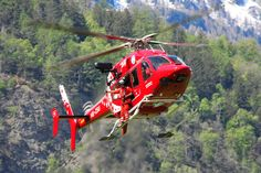 Bell 429 helicopter, Air Zermatt, Switzerland, Photo : André Bour