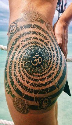 Om & Mandala Hip Tattoo @thistookmymoney
