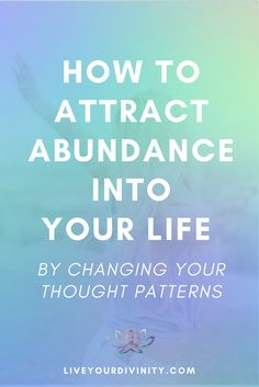 Find out how to change your thought patterns to attract abundance into your life. How to heal your money mindset when you are looking how to make more money to pay off debt, be debt free, using the law of attraction, manifesting abundance, manifesting money.