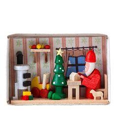 Loving this German Matchbox Miniature Santa's Workshop on #zulily! #zulilyfinds