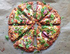 Heimelaga, sunn pizza med SØTPOTETbunn!