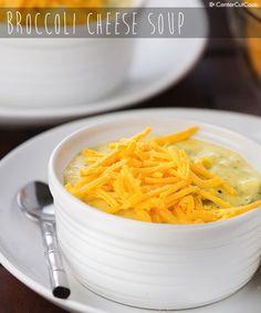 Creamy, cheesy Broccoli Cheese Soup! An easy recipe everyone always loves!