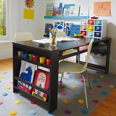 How fun is this confetti rug?