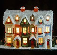 Admittedly, this two-story gingerbread house with working lights is a challenge to assemble. But if you get it right, the Christmas cheer it inspires is second to none.
