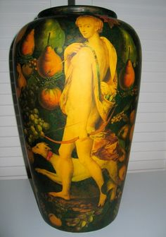 DIANA THE HUNTRESS IN THE GARDEN OF EDEN / Third side of this 45 Cm Vase