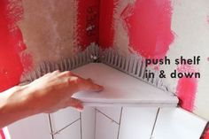 How To Install A Tile Shower Corner Shelf With Images Shower