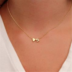 Small Initial Necklace in Gold/ Gold Initial Necklace / Personalized Initial Necklace / Gold Letter Necklace / Single Initial Necklace / Gold Necklace This is a beautiful dainty necklace, very cute and delicate, you can wear it alone or Dainty Necklace, Necklace Types, Bar Necklace, Pendant Necklace, Necklace Ideas, Necklace Online, Necklace Designs, Diamond Cross Necklaces, Stud Earrings