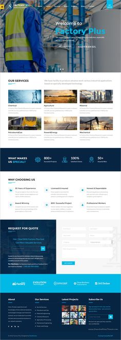 Factory Plus is the best responsive 9in1 #WordPress Theme specifically made for some sectors like #industry, Factories, Construction, Engineering, Machinery Business, Commodity Business, Power, Rail Business, Airplane, Ship #Business, Oil & Gas Business, Petroleum websites download now➩ https://themeforest.net/item/avonmore-premium-creative-multipurpose-wordpress-theme/17364678?ref=Datasata