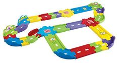 Vtech Go! Go! Smart Wheels – Deluxe Track Set Product FeaturesDeluxe track set combines learning and pretend play3 SmartPoint? locations interact with SmartPoint? vehicles to trigger fun phrases, music and sound effectsIncludes a variety of 30 straight and curved pieces for maximum... more details available at https://perfect-gifts.bestselleroutlets.com/gifts-for-babies/toys-games-gifts-for-babies/product-review-for-vtech-go-go-smart-wheels-deluxe-track-playset/