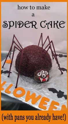 How to make a Spider Cake with pans you already have.