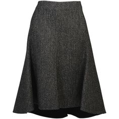 Celine Skirts ($550) ❤ liked on Polyvore featuring skirts, bottoms, grey, celine skirt, gray skirt, grey skirt, tweed skirt and grey tweed skirt