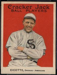 Ed Cicotte 1915 Cracker Jack.   Read about 5 great cards from this classic vintage baseball card set that won't cost an arm and a leg.