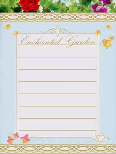 "Disney Cruise Line - Enchanted Garden Restaurant - Project Life Journal Card - Scrapbooking. ~~~~~~~~~ Size: 3x4"" @ 300 dpi. This card is **Personal use only - NOT for sale/resale** Logos/clipart belong to Disney. Font is Exmouth www.dafont.com/exmouth.font ."