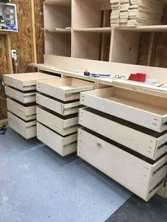 This is my attitude towards Jay Bates Mitersaw Station - wood working plans Sketchup Woodworking, Woodworking Shop Layout, Woodworking Bench, Woodworking Projects, Garage Storage Cabinets, Diy Garage Storage, Tool Storage, Garage Sink, Garage Organization