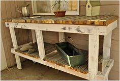 Rustic Potting Table