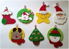 Artfesta - Artesanatos: Enfeites natalinos para árvore de Natal em EVA
