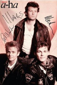 A-ha  Autogrammkarte, autograph card not from me