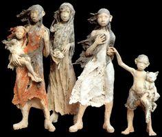 Fanny Ferré : sculpture en terre cuite engobée