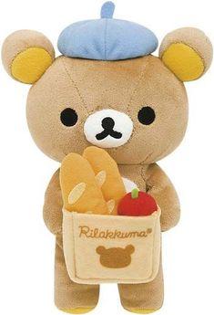 (6) Rilakkuma Bread and Apple Basket Soft Plush | Kawaii :3 | Pinterest