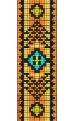Rotated Alpha Pattern added by Meriska Seed Bead Patterns, Peyote Patterns, Beading Patterns, Stitch Patterns, Bead Loom Bracelets, Beaded Bracelet Patterns, Friendship Bracelet Patterns, Indian Beadwork, Alpha Patterns
