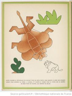 La Jungle chez moi : Série de 8 images et découpages à plier sans collage / Dessins de Turenne Chevallereau | Gallica