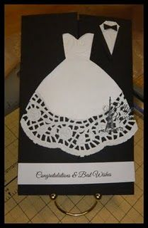 Cute wedding card idea! I love a good doily!