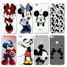 For Coque Huawei P8 Lite 2017 Case Lovely Mickey & Minnie Hard PC Back Cover For Fundas Huawei Ascend P8 Lite 2017 Phone Case