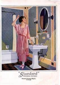 A 1922 Standard Plumbing Home Decor Shower Bath Tub Sink | eBay