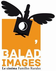 Logo Balad' Images, cinéma itinérant de familles rurlaes. #creation #logo #france #brand #design