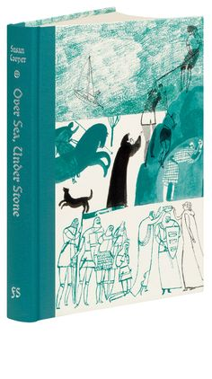 The first book in the award-winning The Dark is Rising sequence, Over Sea, Under Stone is a fantastical adventure set among forces of Light and Dark. This edition by The Folio Society includes a preface by Susan Cooper and is illustrated by Laura Carlin. Book Cover Design, Book Design, Design Design, Illustrations, Book Illustration, Beautiful Book Covers, Design Graphique, Graphic Design Posters, Cool Books