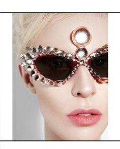 e3c892b78f4d Mercura NYC Salamander Navette and Dome Cat Eye Futuristic Sunglasses