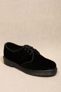 Dr. Martens Black Velvet Hugh Shoes