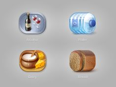 Icons for Euro-nn online store by dribbble.com