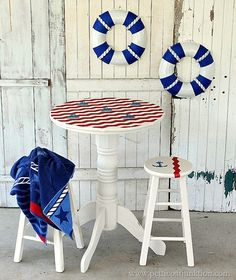 sailboat inspired nautical furniture Petticoat Junktion travel theme project