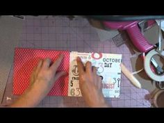 ▶ Mini album 101- Making covers/attaching pages - YouTube from SuperHappy Scrapper