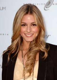 Olivia Palermo with beautiful blonde hair.