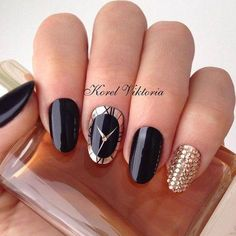Stunning Black Nails