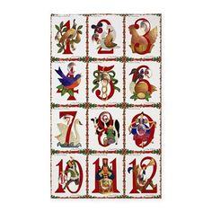 12 Days Of Christmas Area #Rug #Christmas #12DaysOfChristmas #Holiday #Gifts