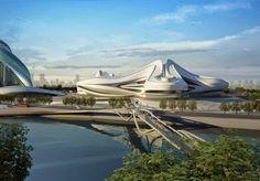 amazing Futuristic Architecture project by Zaha Hadid Architects in China