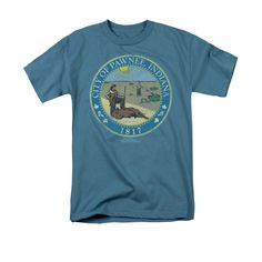 Parks & Recreation - Distressed Pawnee Seal Adult Regular Fit T-Shirt