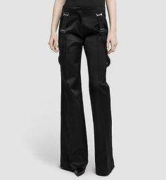CALVIN KLEIN COLLECTION Slim Flare Silk Trousers 03542284CO001