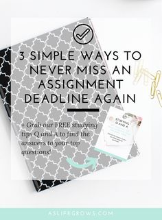 Do you struggle with missing assignment deadlines? If so, this post will teach you how to never miss an assignment deadline again!